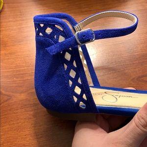 Jessica Simpson Shoes - Royal Blue Ankle Strap Flats